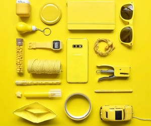 arranged, things, and yellow image