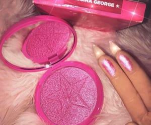 makeup, pink, and highlighter image