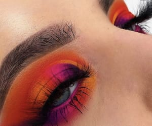 colorful, eye makeup, and eyebrows image