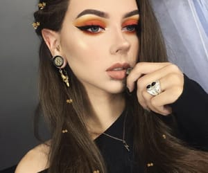 beauty, cat eye, and makeup looks image