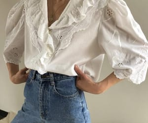 blouse, chic, and style image
