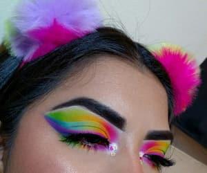colorful makeup, makeup, and eyeshadow image