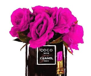 chanel, flowers, and red roses image