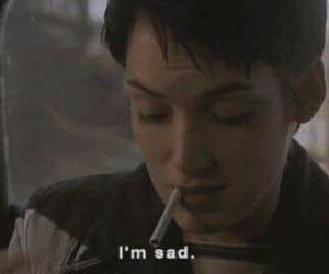 sad, cigarette, and movie image