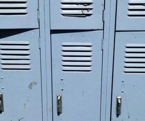 blue, aesthetic, and locker image