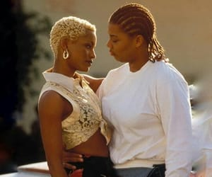 dreads, queen latifah, and vintage image