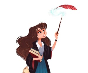 art, harry potter, and hermione granger image