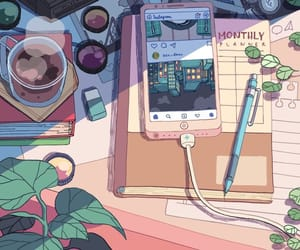 art, phone, and aesthetic image