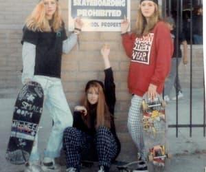 girl, skate, and skateboarding image
