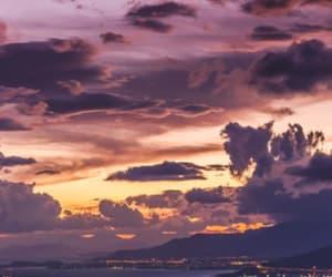 city, night, and sunset image