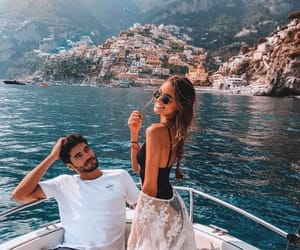 couple, boat, and summer image