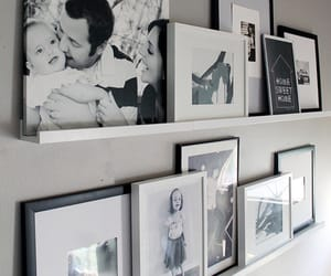 picture frames, shelf, and shelves image