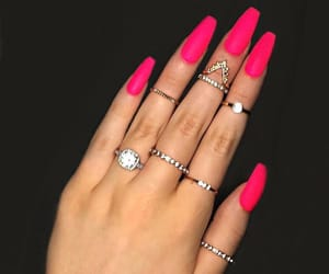 acrylics, jewelry, and manicure image