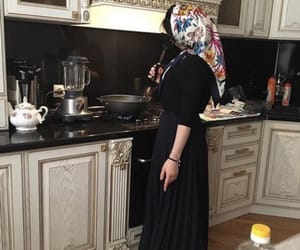 girl, islam, and kitchen image