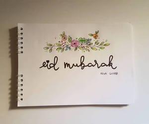 arabic, eid mubarak, and muslim image