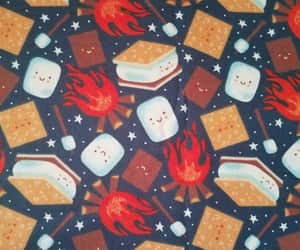 campfire, camping, and marshmallow image