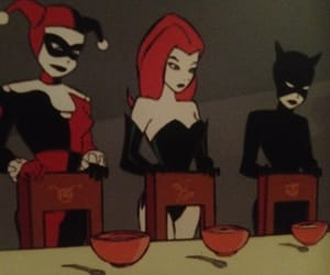 catwoman, harley quinn, and villain image
