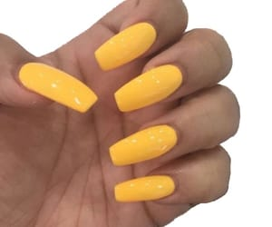 yellow, nails, and yellow nails image