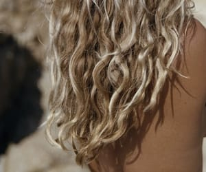 beach, curls, and salty image