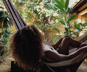 girl, hair, and relax image