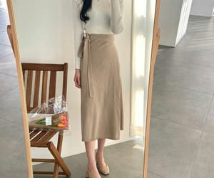 beige, clothes, and kfashion image