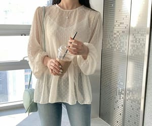 blouse, blue, and clothes image