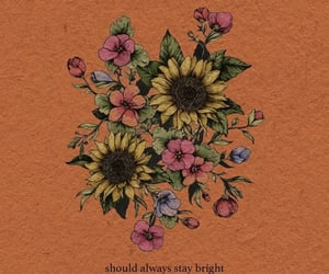 flowers, quotes, and wallpaper image