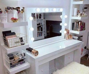 decoration, make up, and mirror image
