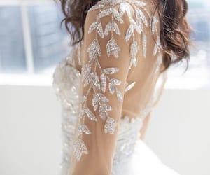 beautiful, lace, and bridal image