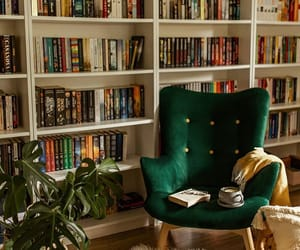 decor, interior, and home library image