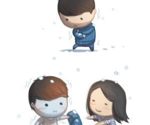 love, cold, and boy image