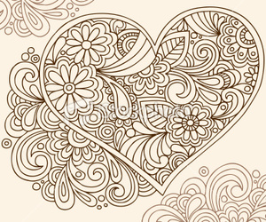 black and heart image