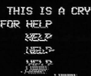 help, sad, and glitch image