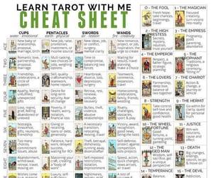 tarot, tarot cards, and cheat sheet image