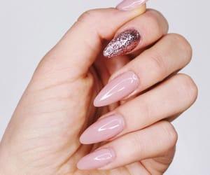 acrylics, acrylic nails, and nude nails image