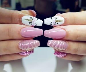 nails, summer, and unicorn image