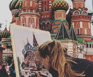 architecture, colorful, and moscow image