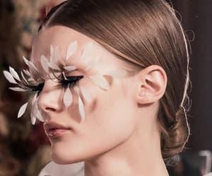 eyelashes, runway, and high fashion image