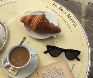 coffee, croissant, and french image