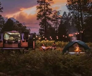 couple, nature, and camping image