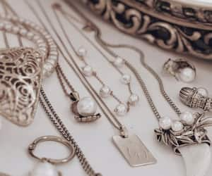 jewelry, nails, and necklace image