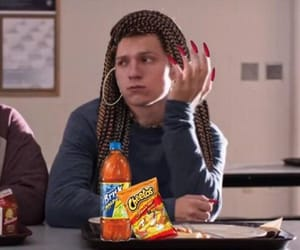 spiderman, tom holland, and reaction image