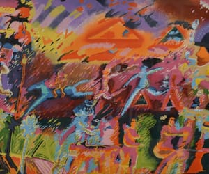 figurative painting, carlos almaraz, and mexican-american artist image