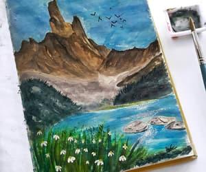 art, art work, and blue image