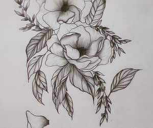 art, flowersart, and sketch image