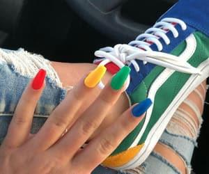 nails, vans, and nail art image
