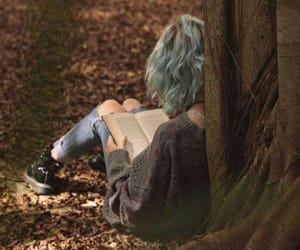 aesthetic, autumn, and blue hair image
