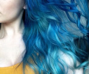aesthetic, hairstyle, and blue image
