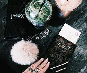 drink, nails, and food image