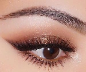 brown, lashes, and cosmetics image
